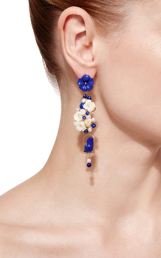 Lapis Nesters Earring by OF RARE ORIGIN Now Available on Moda Operandi