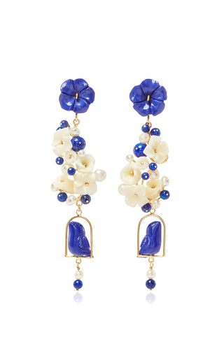 Medium of rare origin royal blue lapis nesters earring