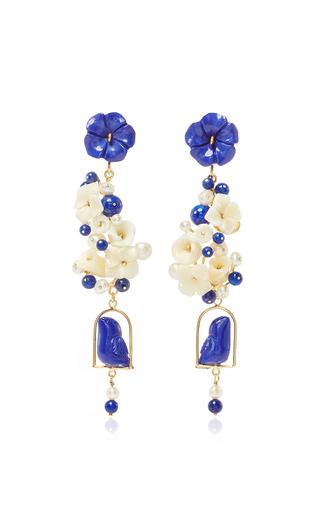 Medium of rare origin royal blue lapis nesters earring