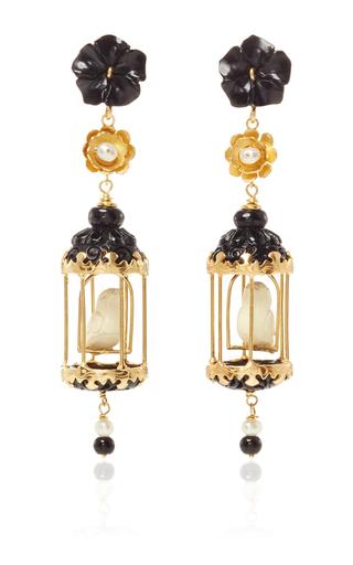 Medium of rare origin black black aviary earring