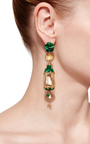 Malachite Aviary Classic Earring by OF RARE ORIGIN Now Available on Moda Operandi