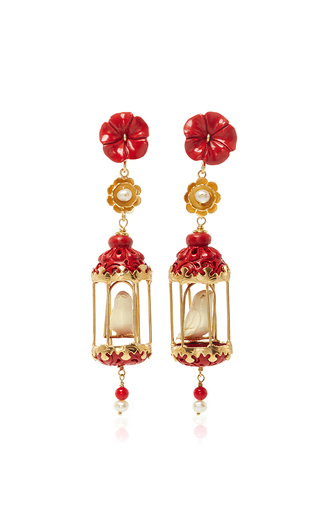 Medium of rare origin coral coral aviary classic earring