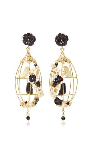 Medium of rare origin black black lovebird earrings