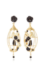 Black Lovebird Earrings by OF RARE ORIGIN Now Available on Moda Operandi