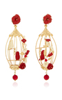 Ruby Lovebird Earrings by OF RARE ORIGIN Now Available on Moda Operandi