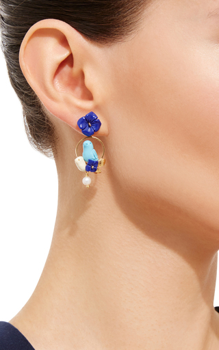 Turquoise Chicks Earrings by OF RARE ORIGIN Now Available on Moda Operandi