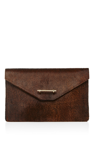 Medium m2malletier brown envelope clutch
