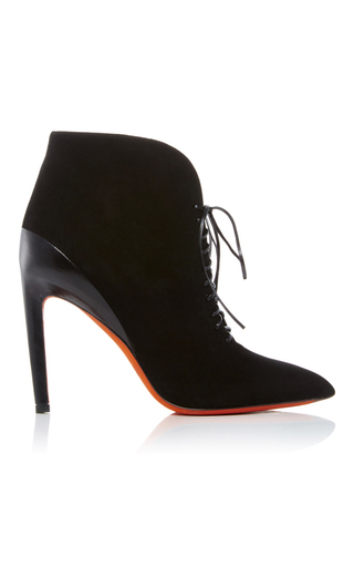 Medium santoni black lace up ankle boot