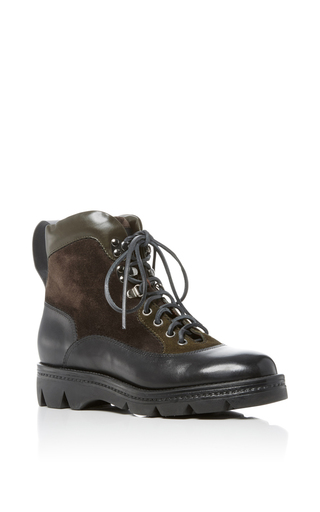 Medium santoni black hiking boot