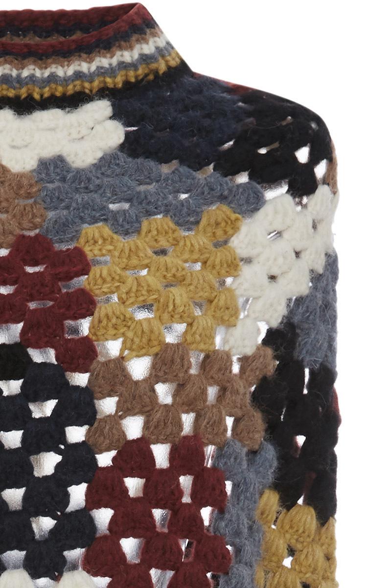 Alpaca Crochet Poncho By Rosetta Getty Moda Operandi