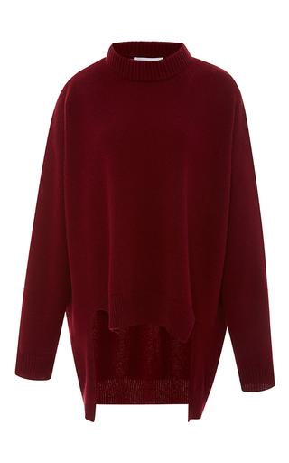 Medium rosetta getty burgundy cashmere merino cropped front jumper