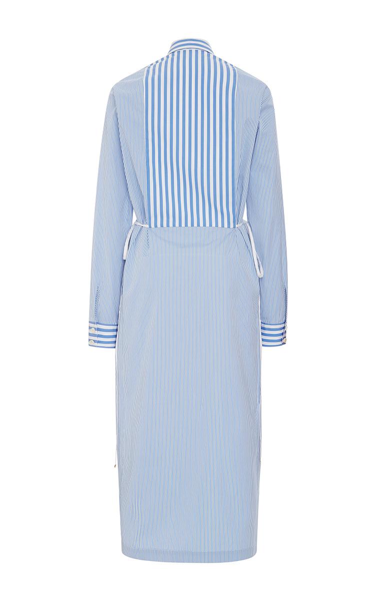 Maxi stripe cotton poplin tuxedo shirt dress by moda for Tuxedo shirt vs dress shirt