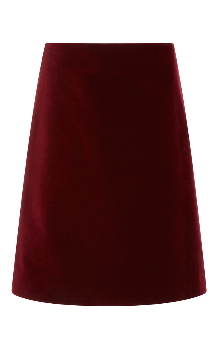 Cotton Velvet Short A-Line Skirt by Rosetta Getty | Moda Operandi