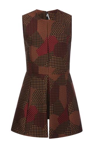 Medium rosetta getty multi patchwork tie jaquard fitted panel top