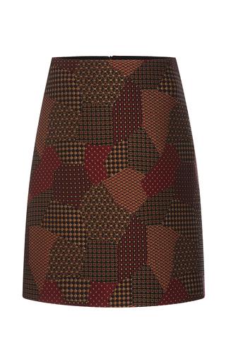 Medium rosetta getty multi patchwork tie jaquard short a line skirt