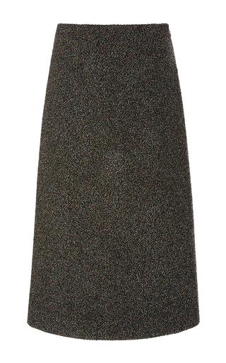 Medium rosetta getty grey lurex boucle a line skirt