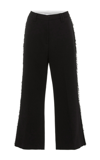 Medium nellie partow black anja cropped trousers