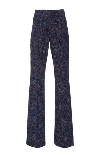 Medium lela rose navy jacquard sam pant