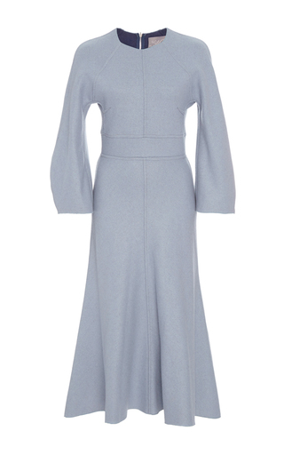 Medium lela rose light blue reversible cashmere dress