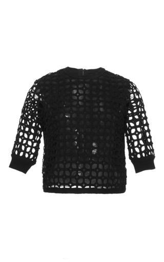 Medium lela rose black knit crop top