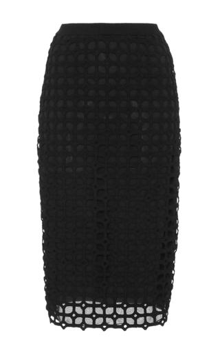 Medium lela rose black knit pencil skirt