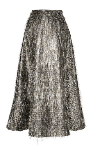 Medium lela rose silver tinsel fringe full skirt