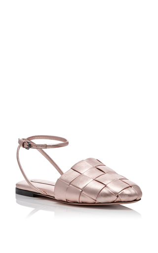 Medium marco de vincenzo light pink basket weave sandals