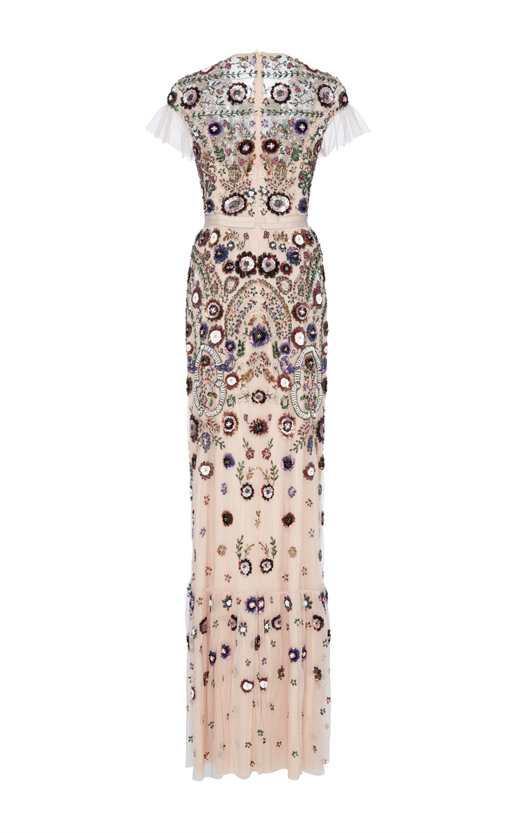7f789a617a7 Blush Enchanted Lace Maxi Dress by Needle   Thread