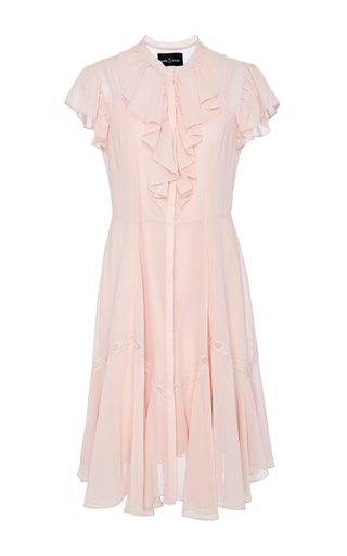 Medium needle thread pink blush victorian ruffle dress
