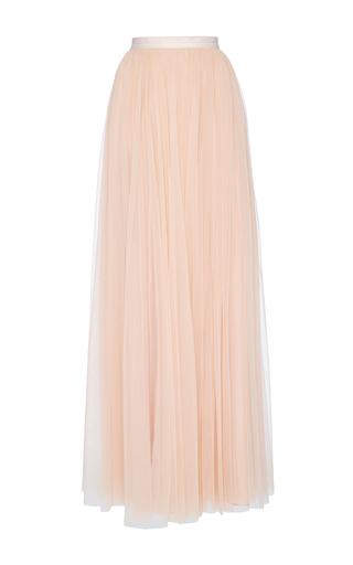 Medium needle thread pink blush tulle maxi skirt