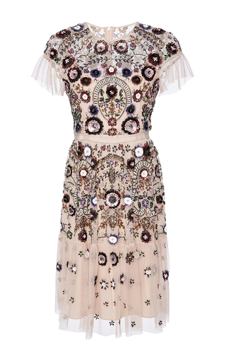 Medium needle thread pink blush enchanted lace dress