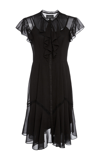 Medium needle thread black black victorian ruffle dress