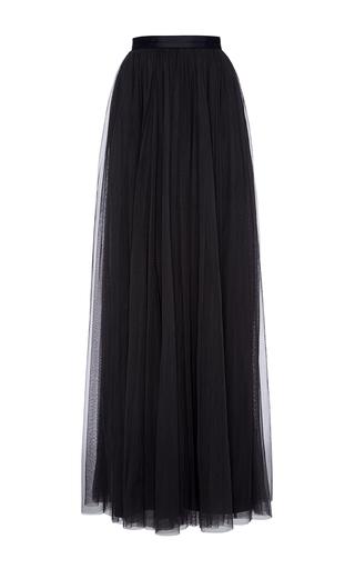 Medium needle thread navy midnight tulle maxi skirt