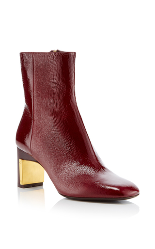 Medium rosetta getty burgundy bordeaux heeled ankle boot