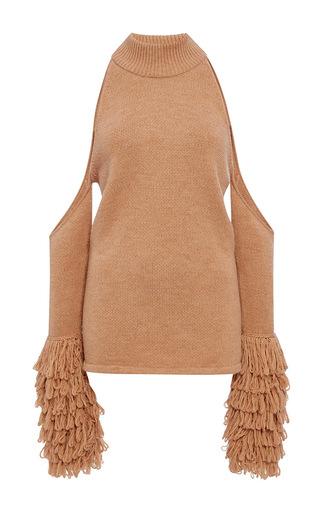 Medium jonathan simkhai nude loopy yarn cold shoulder pullover