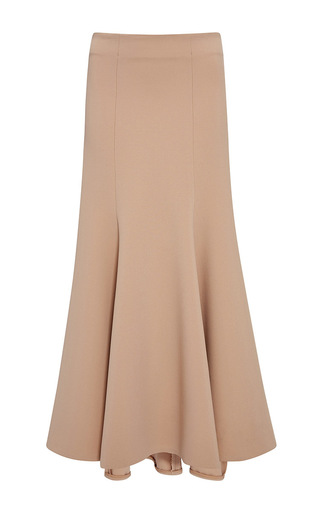 Medium jonathan simkhai nude long structured wool skirt