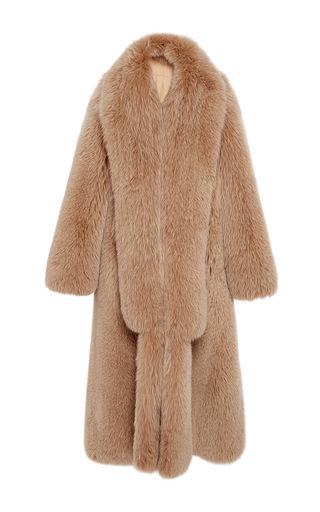 Medium jonathan simkhai nude fox fur maxi coat