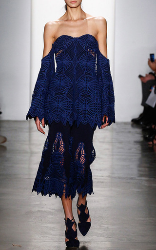 Lace Hem Culotte by JONATHAN SIMKHAI Now Available on Moda Operandi