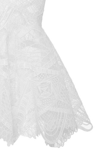 Lace Collar Peplum Top by JONATHAN SIMKHAI Now Available on Moda Operandi