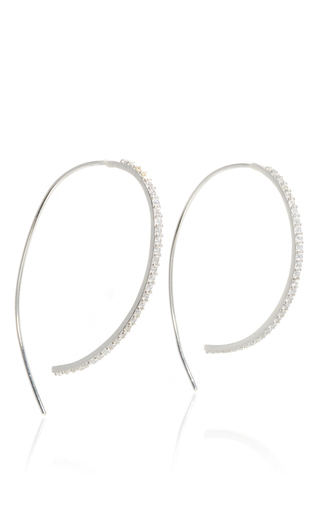 Pave Threaded Hoops  by FALLON Now Available on Moda Operandi