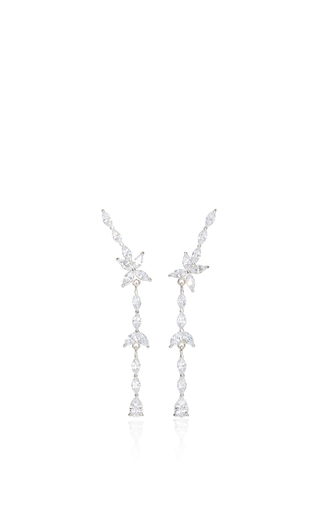 Medium fallon silver monarch matchstick earrings