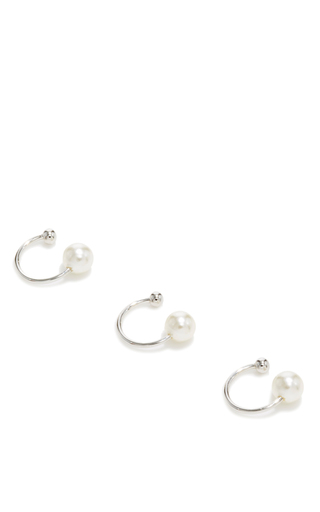 Medium fallon white pearl ear cuff
