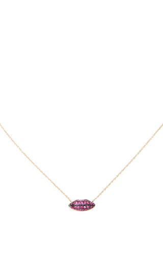 Medium delfina delettrez red gold lips chain
