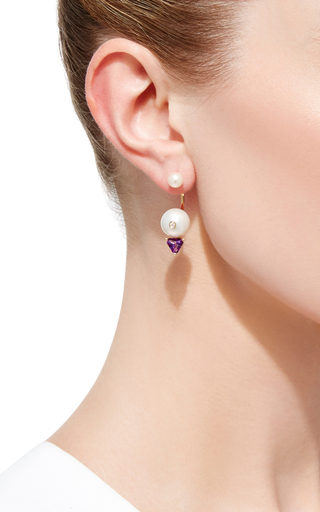 Trillion Earring by DELFINA DELETTREZ Now Available on Moda Operandi