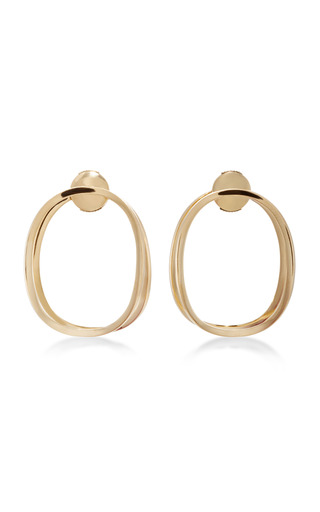 Medium delfina delettrez gold little ear clipse earring