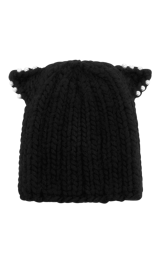 Medium eugenia kim black felix knit beanie