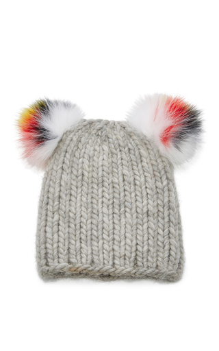 Medium eugenia kim light grey mimi knit beanie