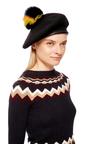 Hadley Pompom Beret by EUGENIA KIM Now Available on Moda Operandi