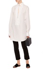 Deep V Neck Collared Tunic by TOME Now Available on Moda Operandi