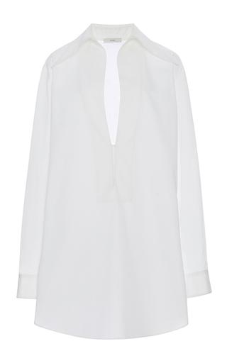 Medium tome white deep v neck collared tunic